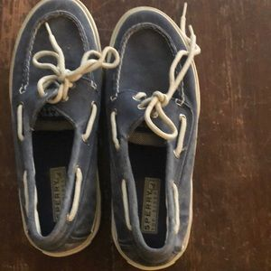 Unworn Sperry Topsider Boat Shoes.  8m
